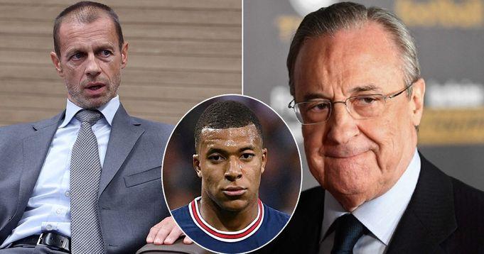 UEFA presidet Ceferin mock Florentino Perez over Mbappe transfer