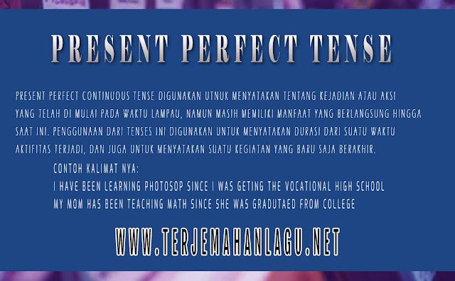 Pengertian Present Perfect Continuous Tense Di Dalam Bahasa Inggris Beserta Contohnya