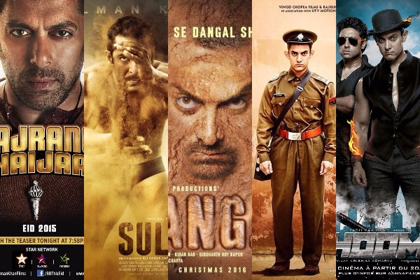 dangal, bajrangi bhaijaan, pk, sanju, tiger zinda hai, dhoom3, krrish 3, uri, padmavat,sultan, golmaal again, kick, 3 idiots box office collection