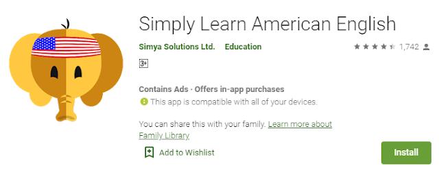 Aplikasi Simply Learn American English