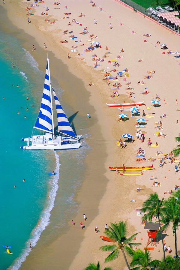 Sizzling Tourist Hotspots in Hawaii | Waikiki Beach and Diamond Head, Oahu, Hawaii