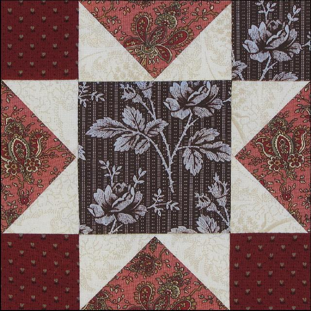 Civil War Quilts Stars In A Time Warp 37 Chocolate Blue Plus Lace Prints