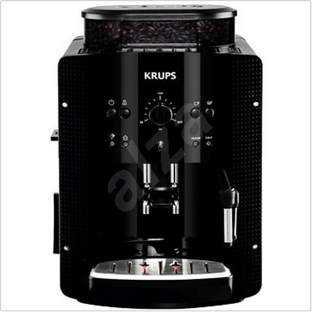 Krups Fully Automatic Espresso Essen Picto Black EA8108;Coffee Maker With Carafe And Single Serve;