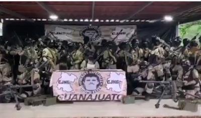 CJNG send Video promising peace... a mass killing of 7 in Guanajuato