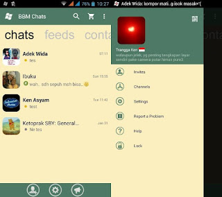 BBM Mod Windows Phone v2.12.0.11 Hijau