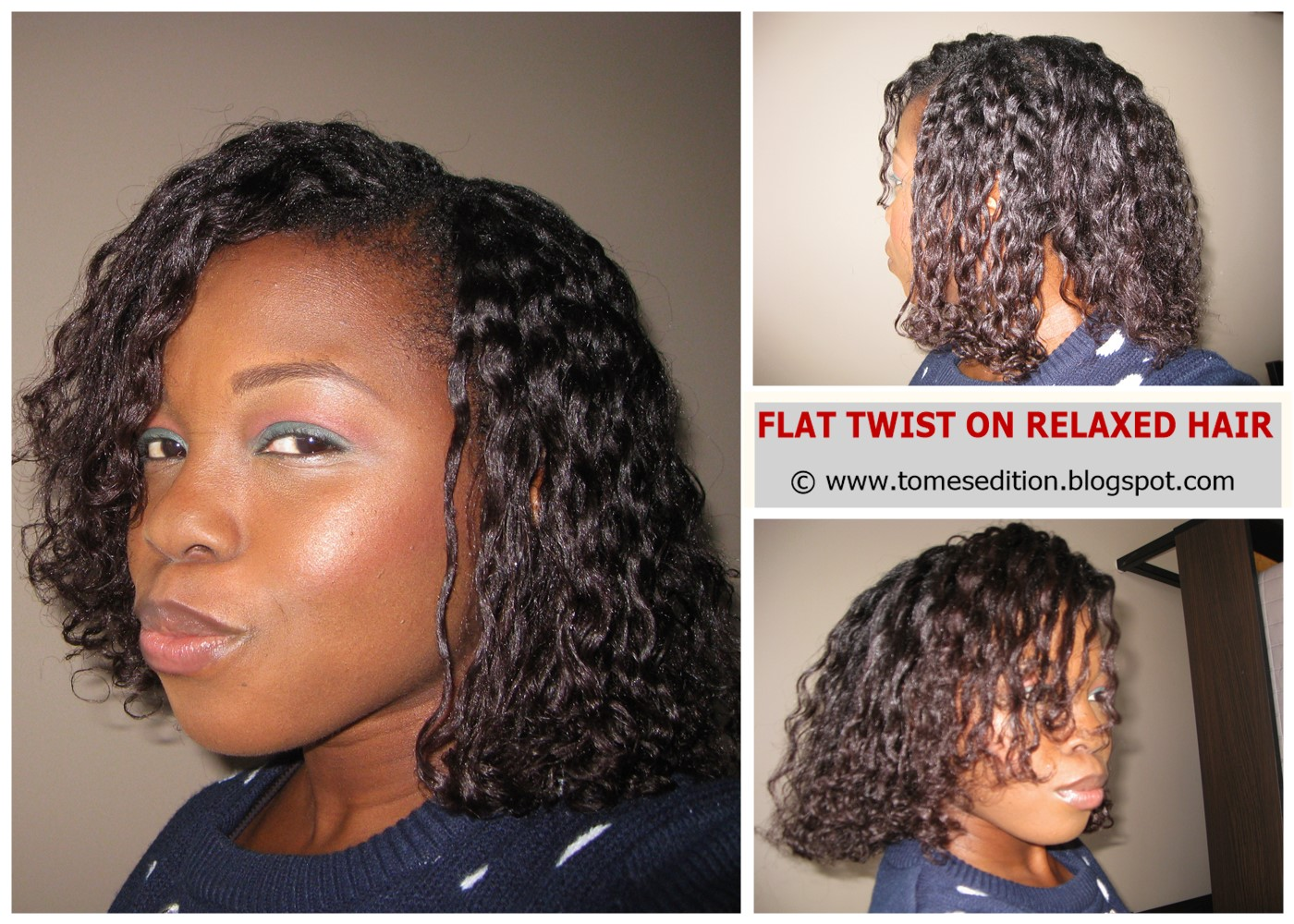 Tomes Edition My Best Flat Twist Out On Relaxed Hair