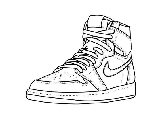 Hình tô màu giày cho bé