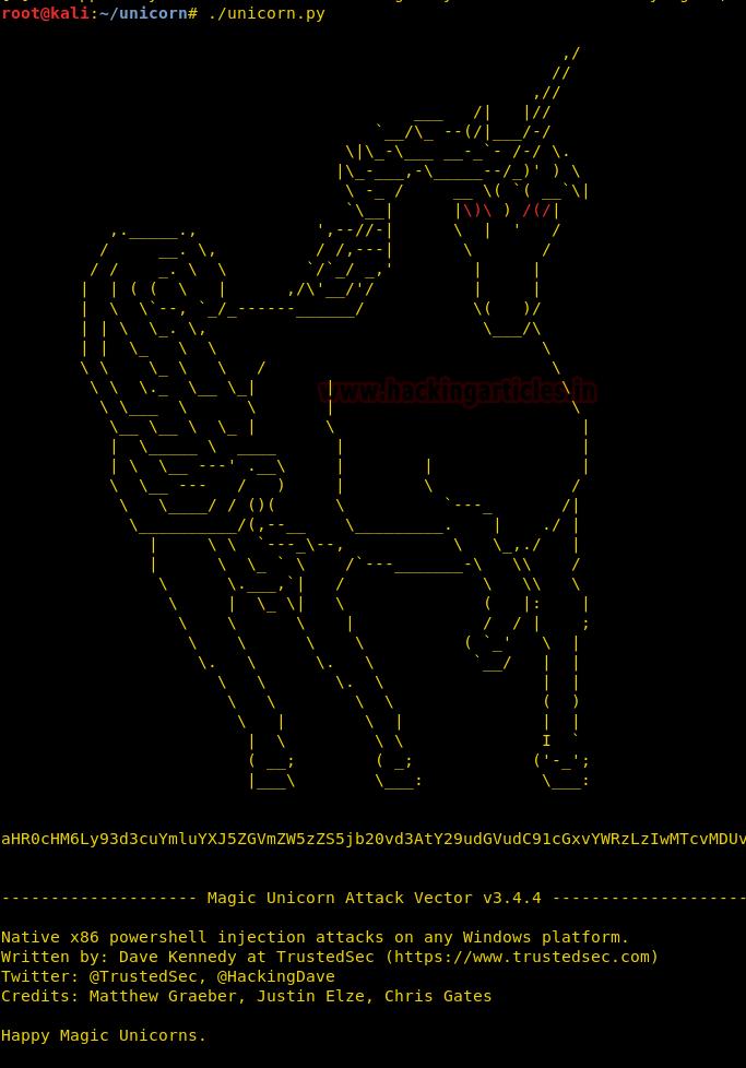 Magic Unicorn - PowerShell Downgrade Attack and Exploitation tool