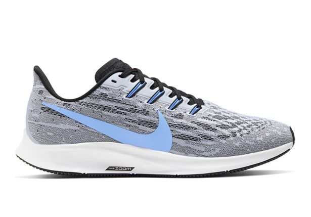 Nike Men's Air Zoom Pegasus 36 Running Shoes - White University Blue Black