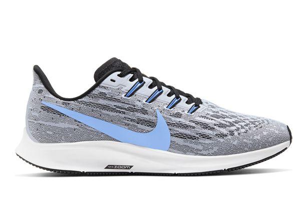 Nike Men's Air Zoom Pegasus 36 Running Shoes - White University Blue Black