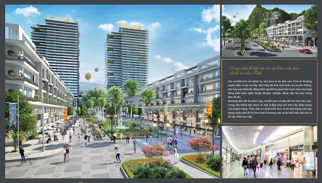 khu nhà phố thương mại trung tâm Mon Bay Hạ Long