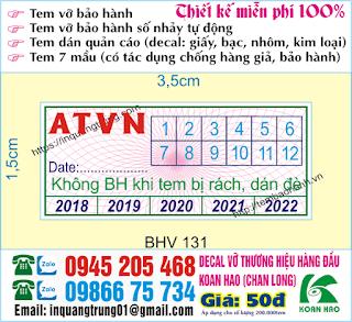 In tem bảo hành giá rẻ hcm