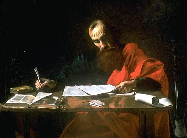 San Pablo escribiendo las epístolas