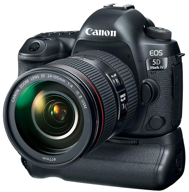 Фотоаппарат Canon EOS 5D Mark IV с батарейной ручкой и объективом EF 24-105mm f/4 IS II