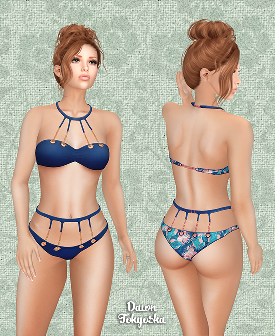 9945d0f8870 My final look this evening is from that 10th anniversary gift pack too, the  *B.D.R.* Poolside -Bikini- (GG Edition). The top and bottom are each  provided in ...