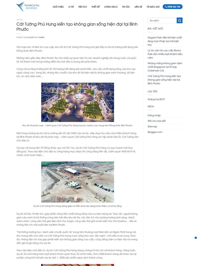Landing Page BĐS Dự án Căn hộ Tuần Châu Marina - Ảnh 2