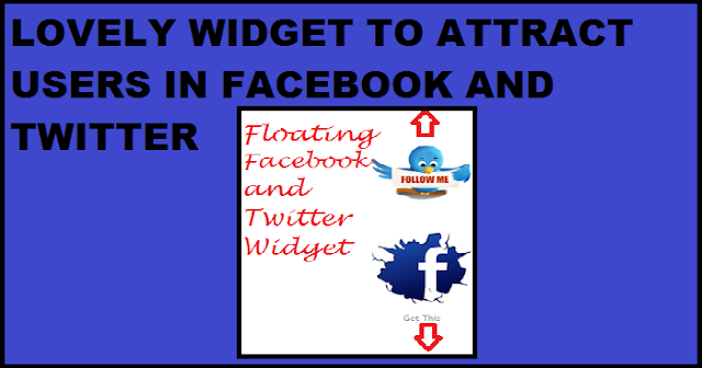 widget for twitter and facebook