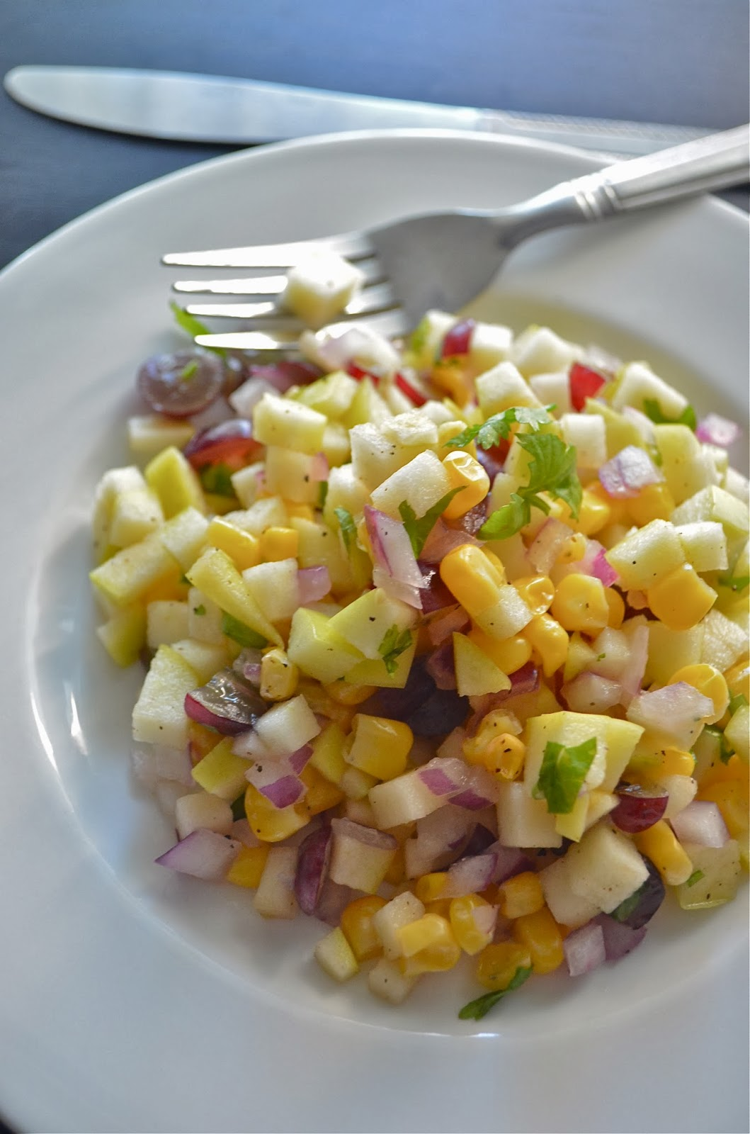 Dishing With Divya Fresh Apple Salsa Recipe