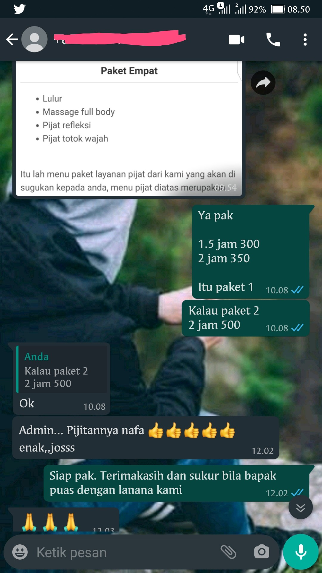 Testimoni customer grand spa