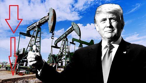 Donald Trump baja el Petróleo
