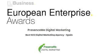 """""""Best SEO Digital Marketing Agency in Spain"""" by European Enterprise Awards 2020"""