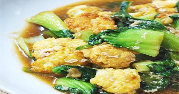 Baby Pak Choy With Mini Egg Tofu Recipe