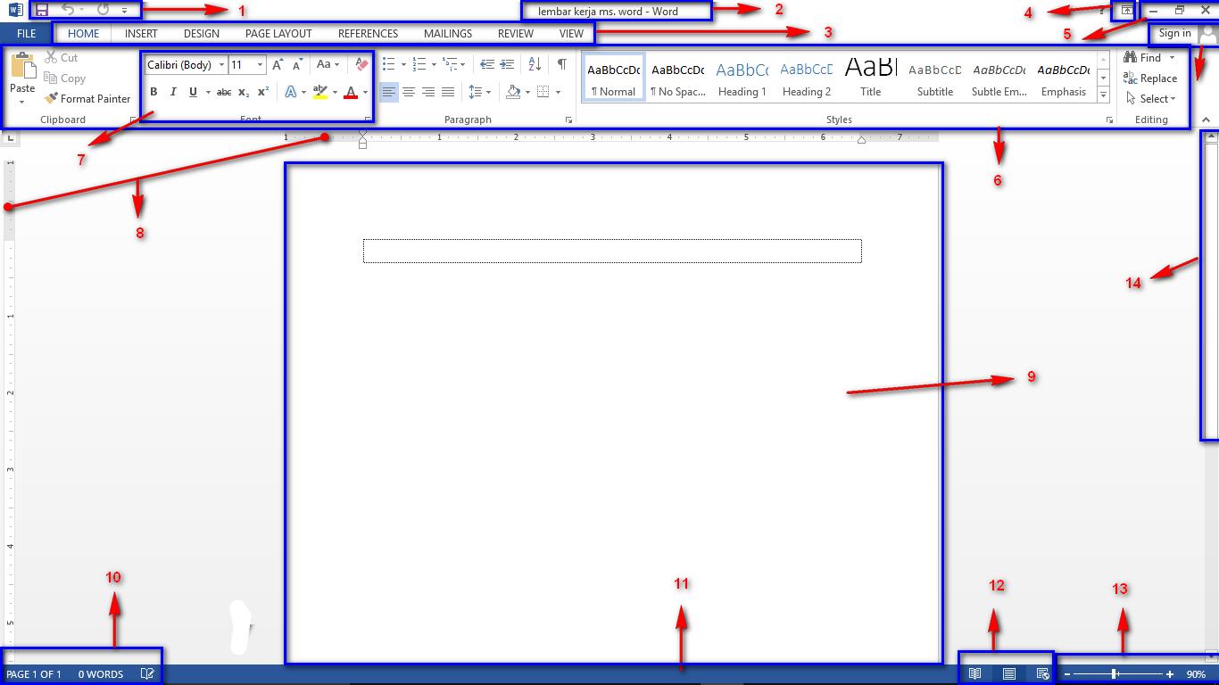 Fungsi Menu Dari Tampilan Lembar Kerja Ms Excel
