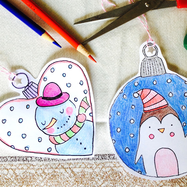 Day 2: Color Your Own Christmas Tree Ornaments Giveaway