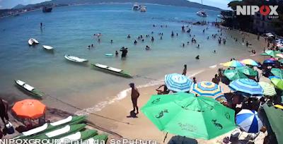 câmera ao vivo da praia da sepultura bombinhas