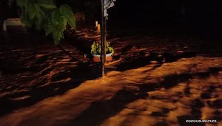 Akibat Tanggul Jebol, Rumah Warga Banding Agung Digenangi Air