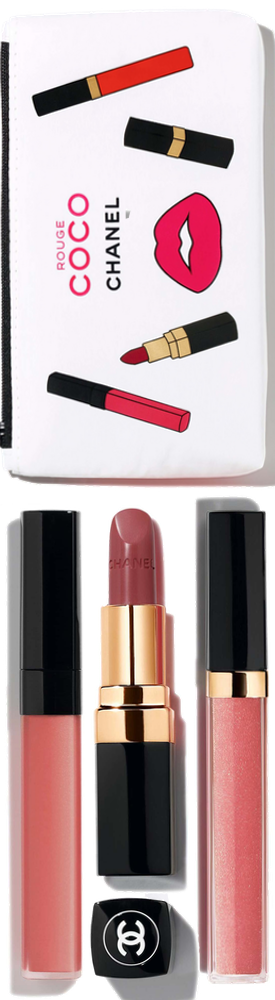 CHANEL ROUGE COCO PINK SET (all included in bag)
