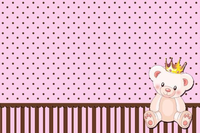 Ursinha Princesa Kit Completo Com Molduras Para Convites Rótulos