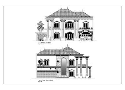 Tampak Rumah Klasik 1