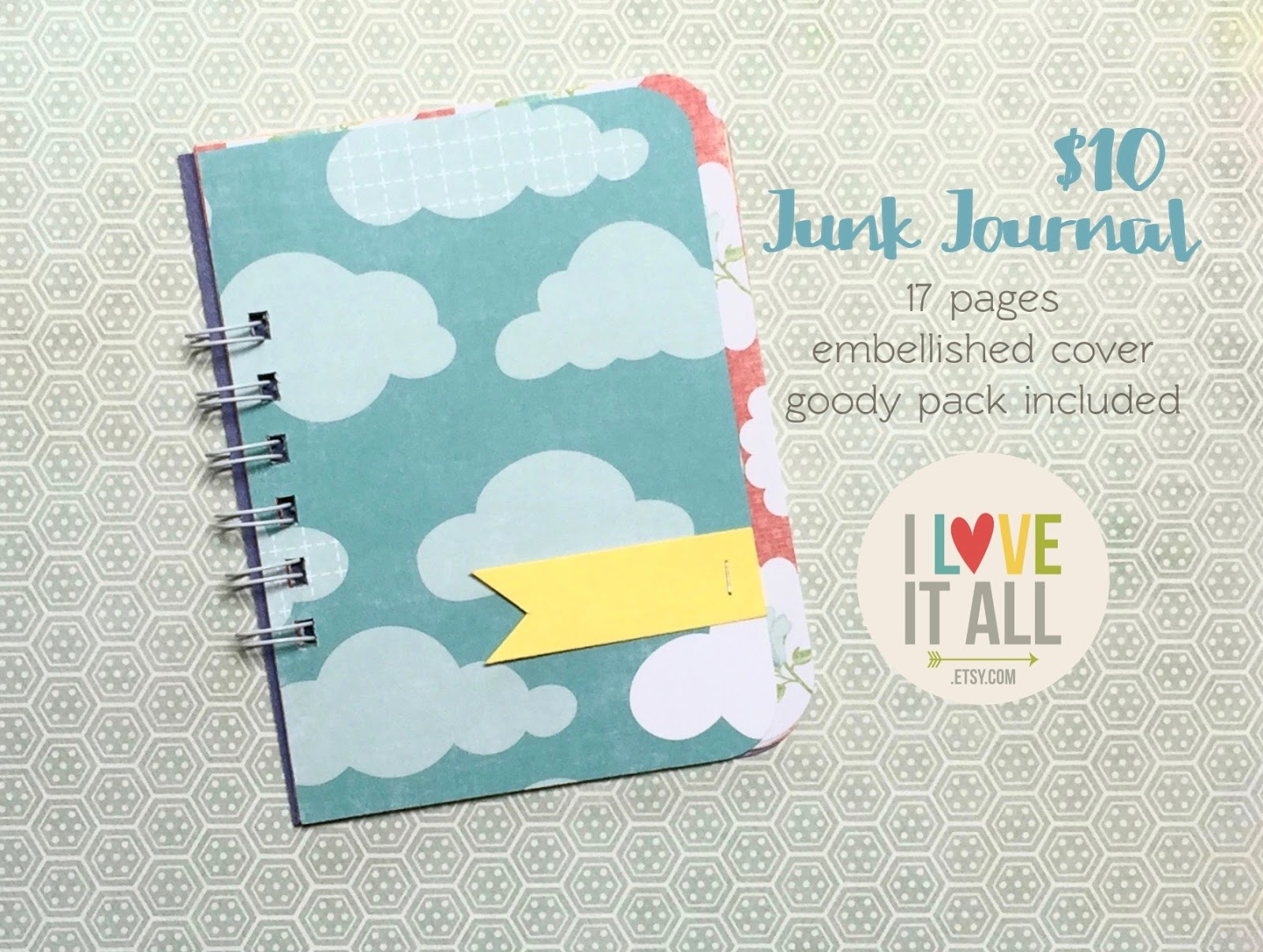 #smashbook #minibook #scrapbook #junk journal #scrapbooking #clouds
