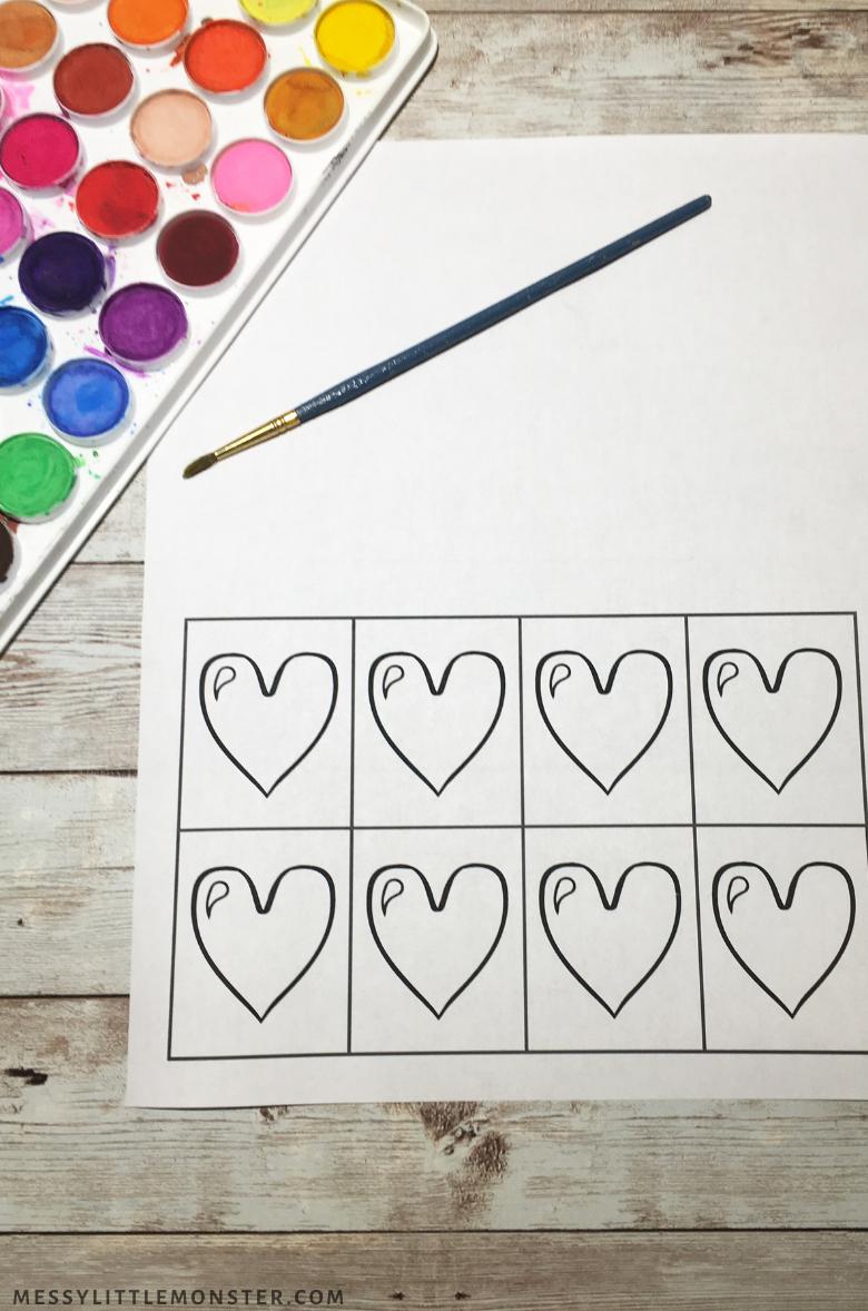 heart art template