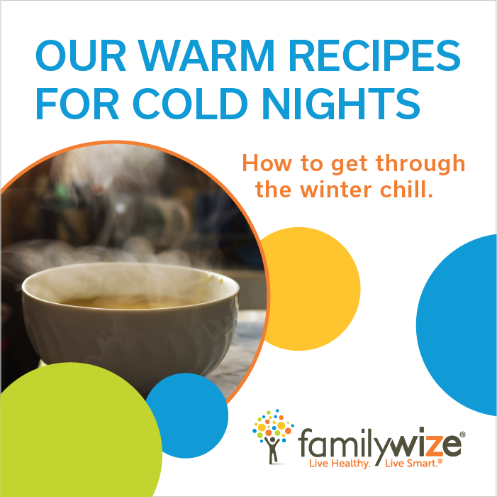 Familywize community service partnership blog healthy for Winter entrees