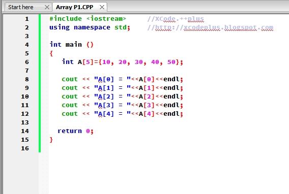 Source code memasukan nilai pada elemen array