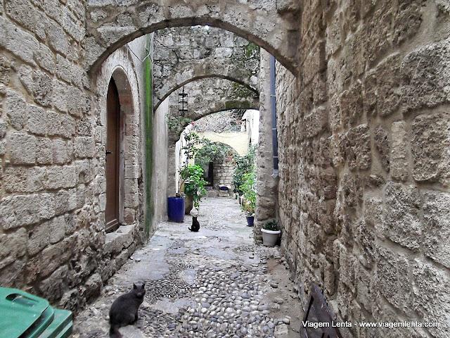 Vielas na cidade medieval - Rodes