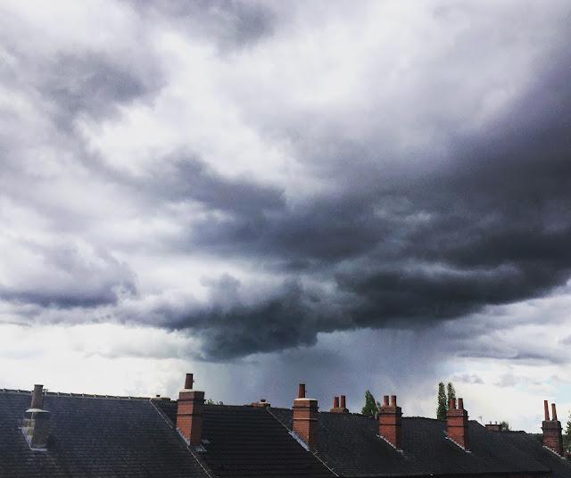 stormy spring skies