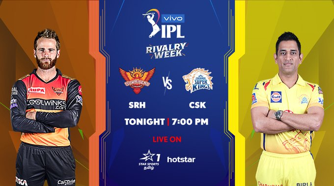 IPL 2019: Sunrisers Hyderabad vs Chennai Super Kings Match Preview, When and Where to Watch the match