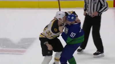 hockey nhl fight bruins canucks