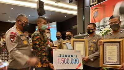 Polres Simalungun Raih Penghargaan Peringkat Kedua IKPA TA 2020