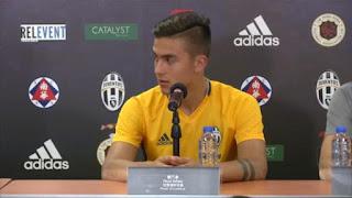 Juventus Dybala intervistato dai bambini video conferenza stampa