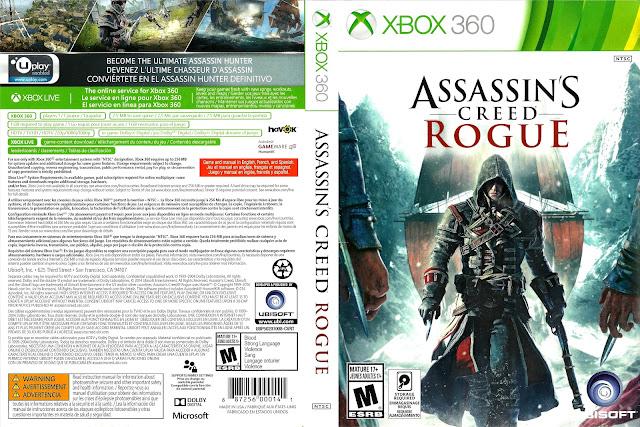 Capa xBox360 Assassin's Creed Rogue