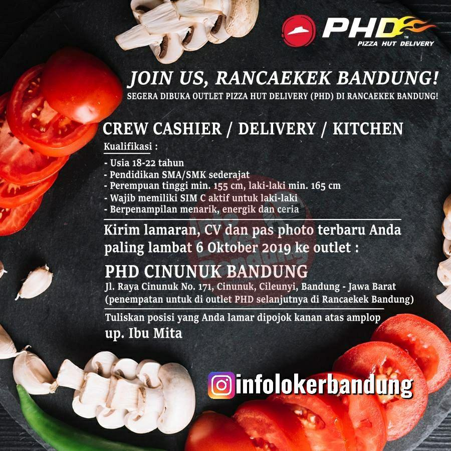 Lowongan Kerja Pizza Hut Delivery (PHD) Rancaekek Bandung September 2019 - Info Lowongan Kerja ...