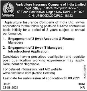AICO of India Recruitment 2021