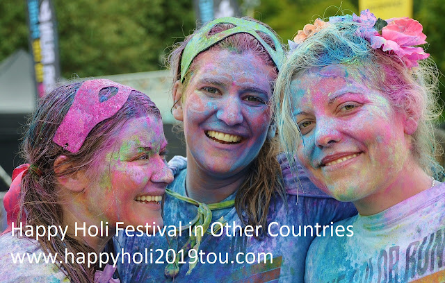 Happy Holi 2019 festival in Other Countries