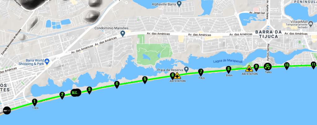 História das ruas Rio City Half Marathon