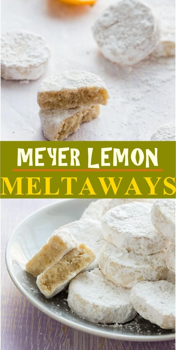 MEYER LEMON MELTAWAYS #cookiesrecipes