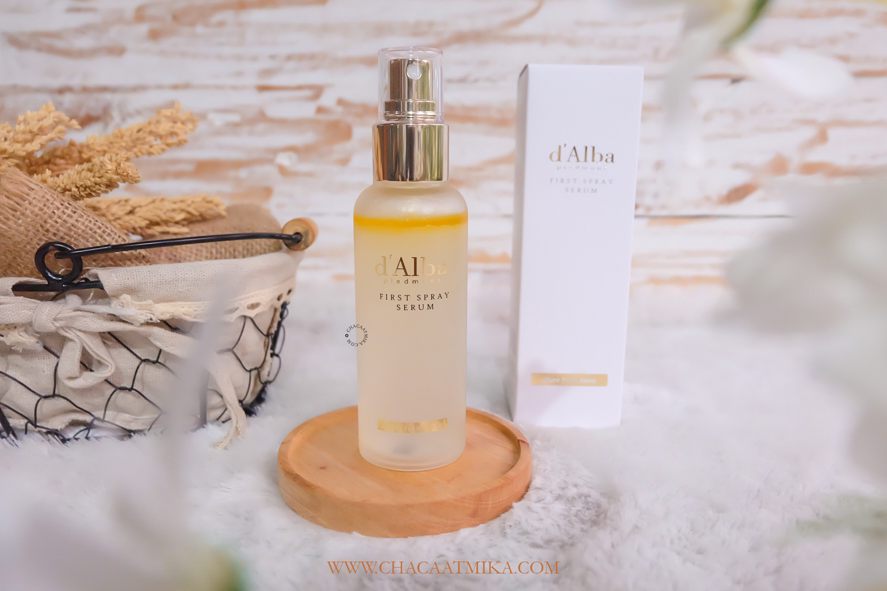 Review d'Alba White Truffle First Spray Serum Korea